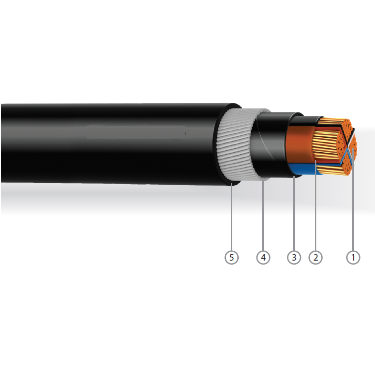 2 5 Pvc Cable : Cores pvc insulated bedded galvanised
